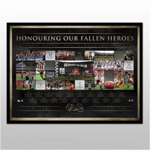 Collingwood FC – Signed 20 Years Of The ANZAC Rivalry Lithograph