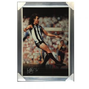 Collingwood Peter Daicos Signed Oil Painting Print